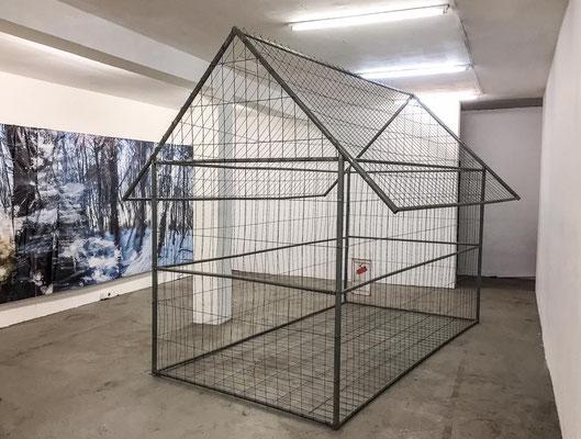Elektrohaus Hamburg, 2016, Doppelausstellung 'Wiegenlieder' mit Arne Lösekann, Werk: domum - nach hause, Foto: Arne Lösekann