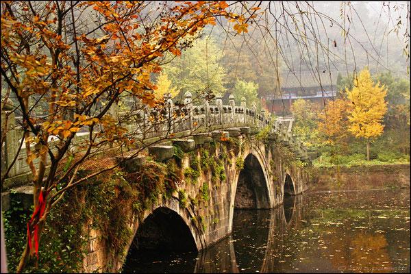 The Sword Bridge in Carefree Valley, Wudangshan