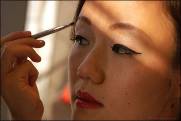 Stella's wedding make-up, Shanghai World Financial Center