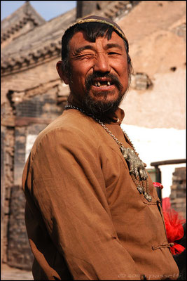 A picturesque man at Pingyao, an ancient town between Beijing and Xi'an