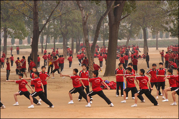 Up to 3000 students attend Kung fu schools at Shaolin Temple