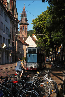 Freiburg historical centre traffic