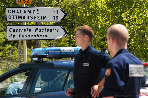Anti atom demonstration at the nuclear power plant in Fessenheim (France), 25 km from Freiburg
