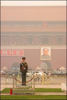 A guard in Tian'anmen Square, Beijing