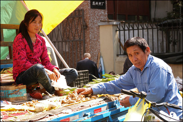 At the market nearby Tianshan Park, Shanghai