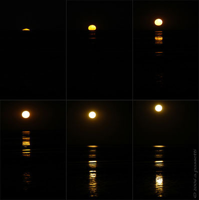 """Staircase to the moon"" sequence - Broome, Western Australia"