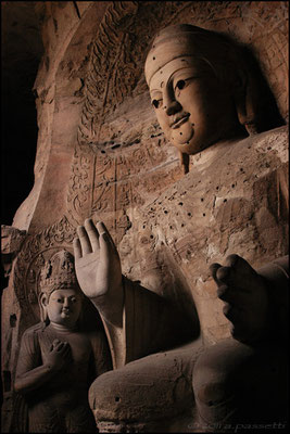 Gorgeous Yungang Grottoes nearby Datong