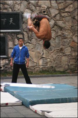 Aerial Shaolin training