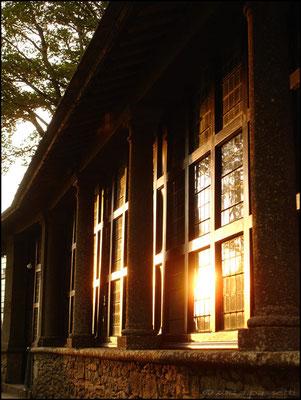 """External facade of the """"Corridoio delle Stigmate"""", sanctuary of La Verna"""