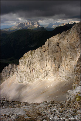 "Dolomiti peaks from the ""Alta Via Bepi Zac"" trail, Trentino"