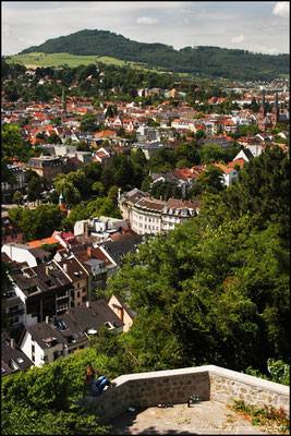 View on Freiburg from Schlossberg terrace