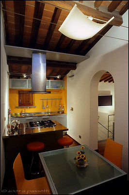 Apartment restored by Luca Doveri architect (Pontedera, Pisa)