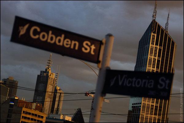 Last light in Melbourne