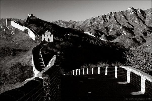 Great Wall and mountains at Badaling