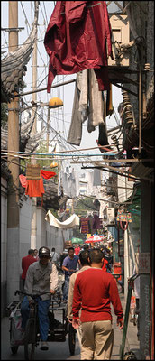 A characteristic alley in Yuyuan, the old town in Shanghai