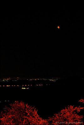 Total lunar eclipse 15/06/2011 from Castelvecchio di Compito (Lucca)