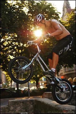 Bike-trial in Freiburg
