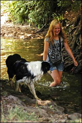 Refreshing on the stream beside Vauban