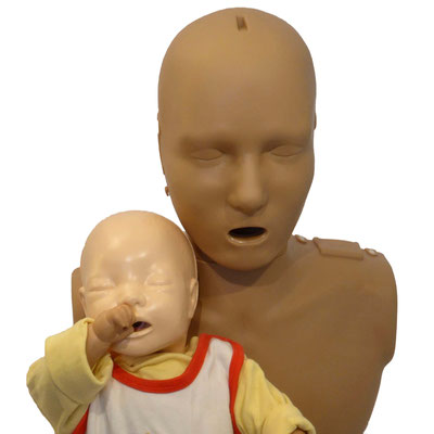 PRESTAN Adult Manikin Dark Skin mit Laerdal Baby Anne