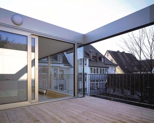 denkmalgeschütztes Mehrfamilienhaus in Schöpfheim; Dachterrasse; Attikawohnung mit Terrasse