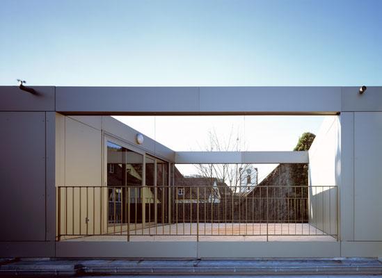 denkmalgeschütztes Mehrfamilienhaus in Schöpfheim; Dachterrasse; Innenhof auf dem Dach