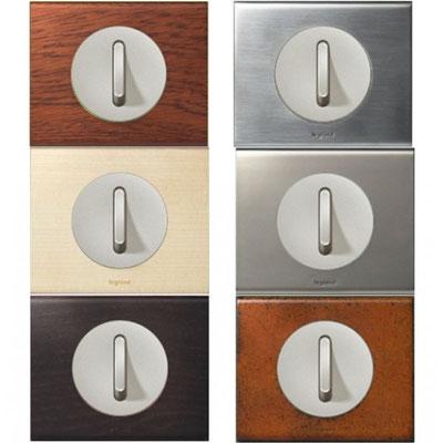 Électricité générale : Ces interrupteurs LEGRAND  possèdent un enjoliveur droit étroit.