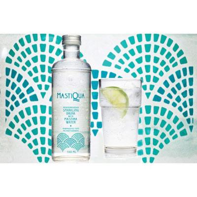 Mastiqua, eau pétillante au extraits naturels de mastic de Chios