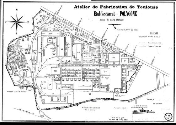 Plan mis à jour en janvier 1967