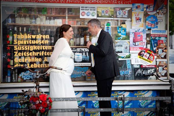 originelles Hochzeitsfoto