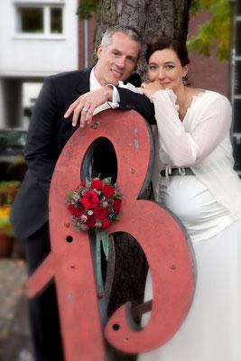 Brautpaar am Schloßtheater
