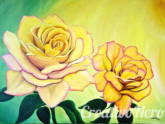 """Rosen, """"Gloria Dei"""", 80x60 cm, Acryl auf Leinwand"""