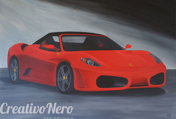 "Ferrari, ""Made in Red"", 140x100 cm, Acryl auf Leinwand"