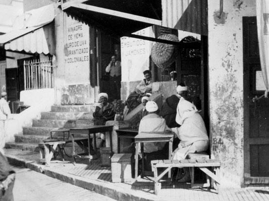 Ein Kaffehaus in Tanger.