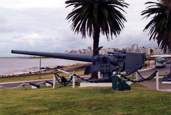 Das 15-cm-Geschütz der Mittelartillerie.