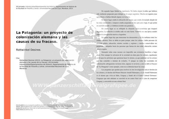 """""""La Patagonia"""" - Ein Deutsches Kolonisationsprojekt und die Gründe des Scheiterns."""