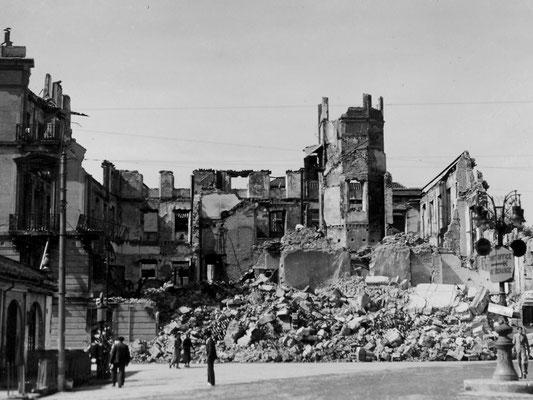 "Ruinen in Bilbao – Spuren des ""Spanischen Bürgerkrieges""."