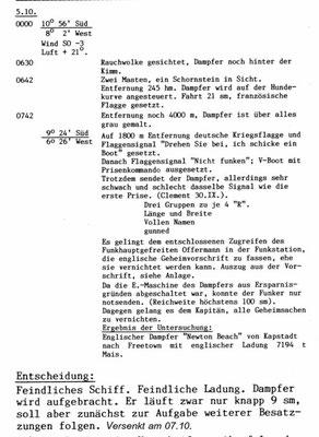 """KTB-Auszug """"Newton Beech""""."""