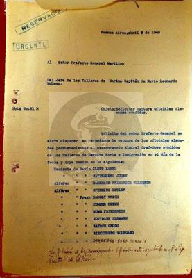 Elf deutsche Offiziere zur Festnahme ausgeschrieben.
