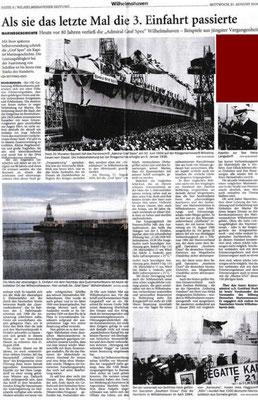 """""""Wilhelmshavener Zeitung"""" - 21. August 2019."""