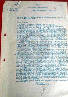 Schreiben vom 20. März 1940.
