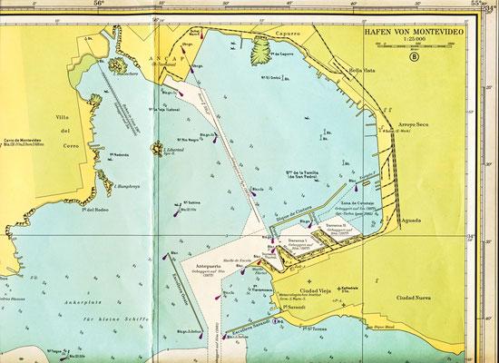 Der Hafen von Montevideo.