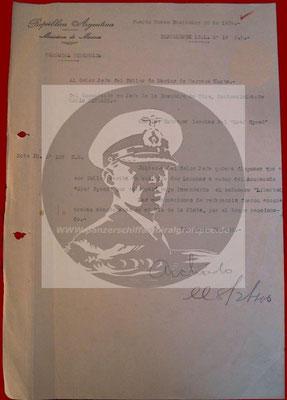 Dokument vom 26. Dezember 1939.
