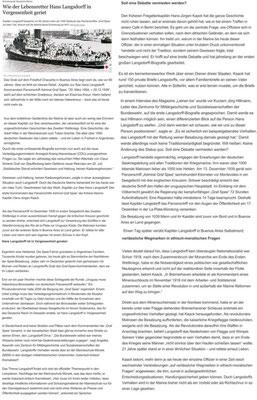 """"""" Der Tagesspiegel"""" - 04. August 2019."""