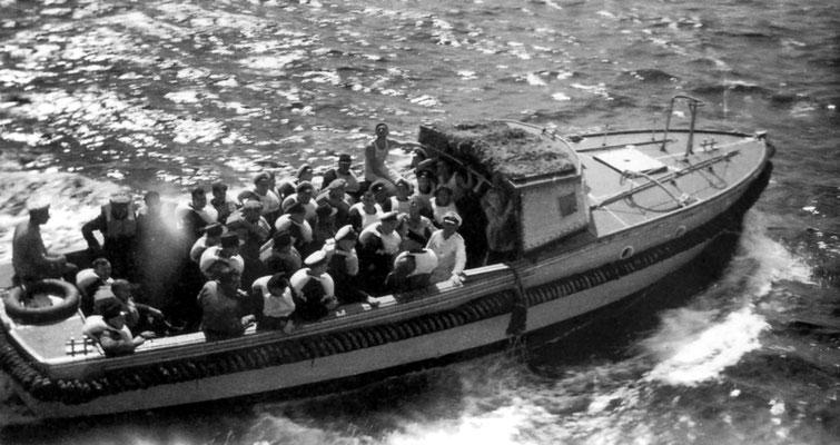 Das Verkehrsboot im Einsatz.