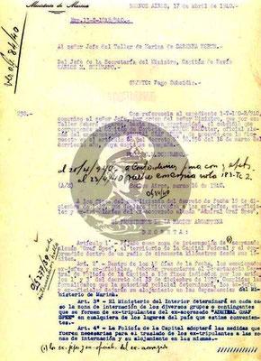 Das Dokument bildet einige Regeln ab - Grundlage war der Erlass vom 16. März 1940.