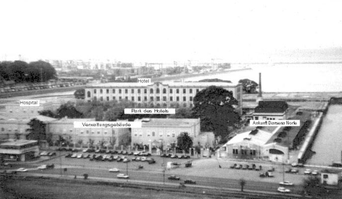 """Der gesamte Anlagenkomplex mit dem """"Hotel de Inmigrantes""""."""