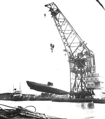 Ein U-Boot am Haken.