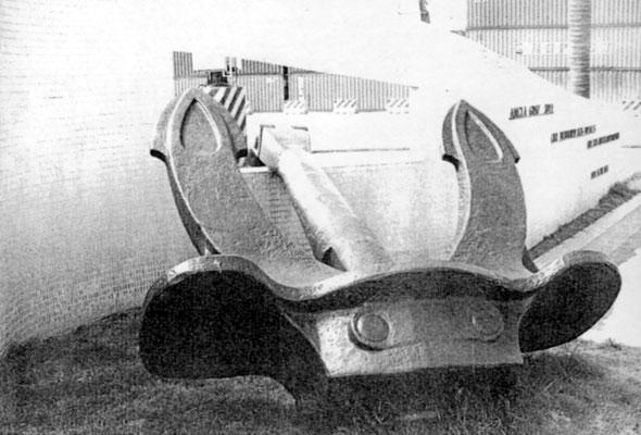 Der Heckanker - in den 60er Jahren geborgen.