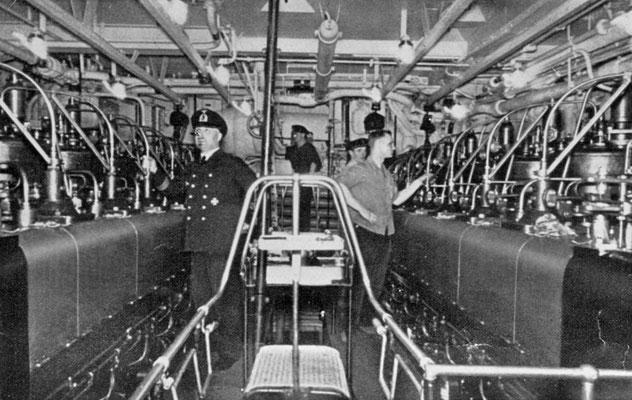 E-Maschinenanlagebereich.