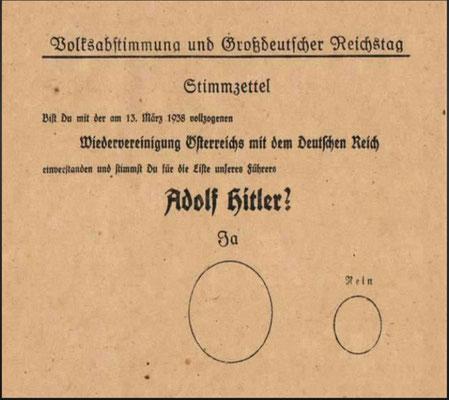Der Wahlzettel und seine Felder ...
